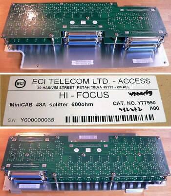 ECI Telecom LTD HI-FOCUS - MiniCAB 48A Splitter 600 Ohm - NEU - OVP - 10