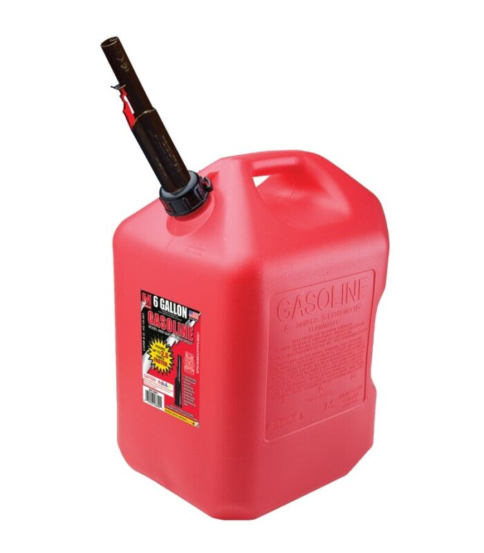 Midwest Can 6610 Auto Shut-Off Gas Can, Plastic, 6 Gallon