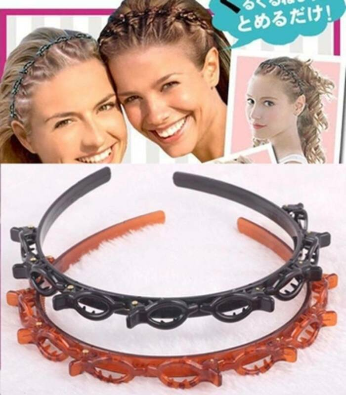 Womens Hair Accessories Twist Clips Headband with Toothed He