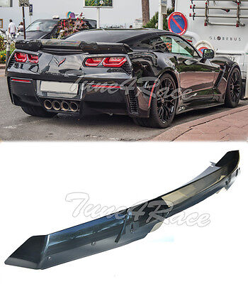 For 14-Up Corvette C7 Carbon Flash Rear Full Spoiler Stage 3 Stingray Z06 Z07 for sale  USA