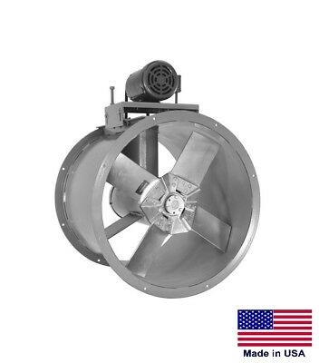 Tube Axial Duct Fan - Belt Drive - 24 - 230460v - 3 Ph - 12 Hp - 6257 Cfm