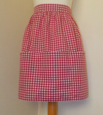 New 5 pocket 'Red Gingham' Vintage Style Waist Apron/Pinny