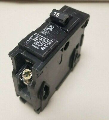 SQUARE D 120//240 VAC 15A SINGLE POLE CIRCUIT BREAKER LM-6560 *LOT OF 7*