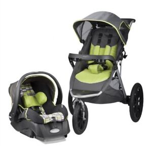 90% new stroller and car seat