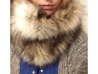 Beautiful faux fur scarf snood