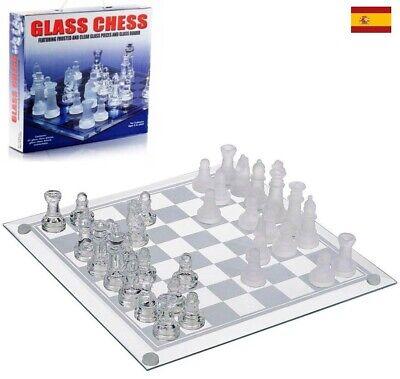 Ajedrez con tablero de cristal juego de mesa Ajedrez chess 35 x...