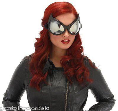 Anime Superhero Costumes (CAT EYE GOGGLES BLACK Big Costume Glasses Batman Catwoman Superhero Anime)