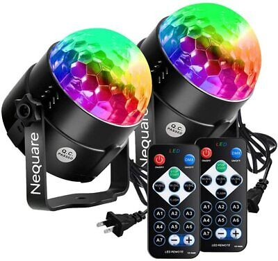 Party Lights Disco Ball Strobe 20 Colors Sound Activated Electronic Dance Light
