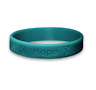 Teal Silicone Bracelet Ovarian Cancer Bullying OCD PTSD Polycystic Kidney Aware