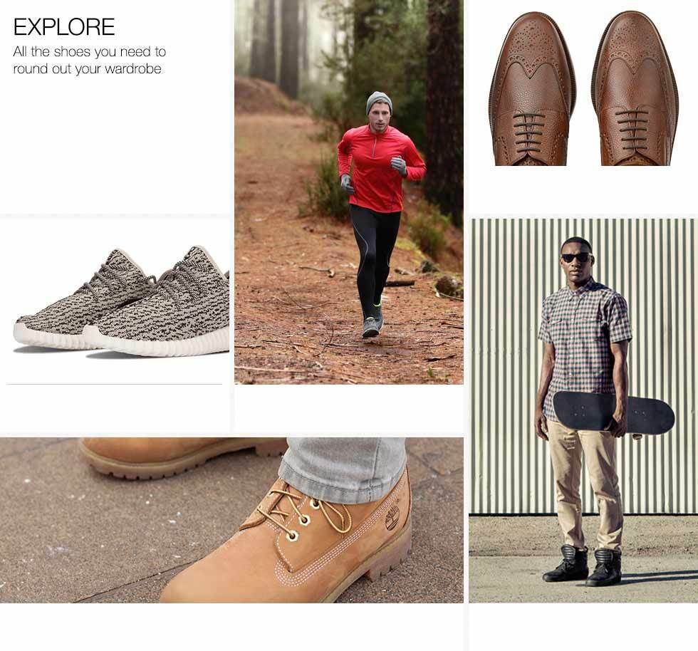 Explore all the shoes you need to round out your wardrobe.