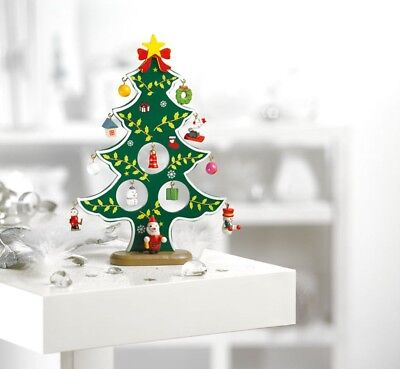 Vintage Style Wooden Christmas Tree Decorations Ornaments Tabletop home Decor UK](Wooden Halloween Decorations Uk)
