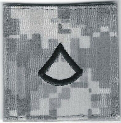 ACU Army E3 PFC Private 1st Class Rank Patch VELCRO® BRAND Hook Side Only