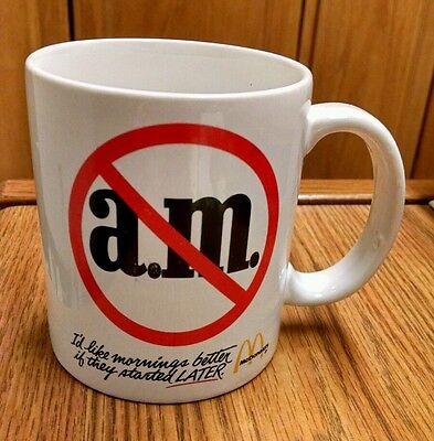 "McDonald's ""I'd Like Mornings Better If They""... Mug, Advertising!  Vintage!"