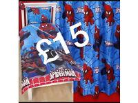 Spider-Man bedding & Curtains