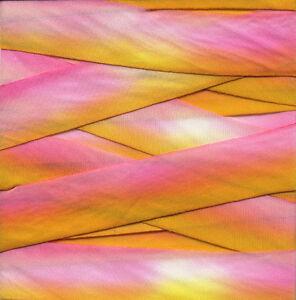 Earth-Silk-Hand-Dyed-Variegated-Bias-Cut-Ribbon-5-8-x-3yd-Pink-Yellow-Orange-015