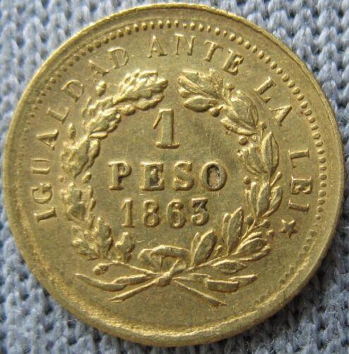Chile 1863 Gold Peso