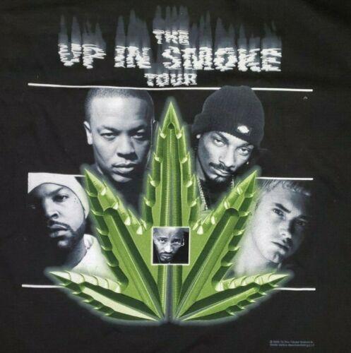 Vintage 2000 Up in Smoke Tour Tee Shirt Medium Eminem Dr. Dre Snoop Rap Hip Hop