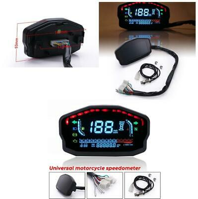 14000 RPM LCD Digital Motorcycle Odometer Speedometer Tachometer Gauge For Honda