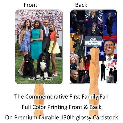 100 Church Fans, Beautiful Obama family Hand Fans (Church Fans)