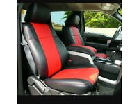LEATHER CAR SEAT COVERS FOR TOYOTA PRIUS FORD GALAXY VOLKSWAGEN SHARAN SHARON 1997-2018