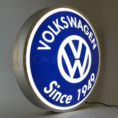 VW LED sign Volkswagen Logo Beetle Gulf Bus Van Bu Back lit Lamp opti neon 1949