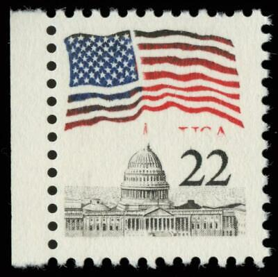 EFO 22¢ Flag Over Capitol Black USA Omitted MNH