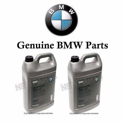 2 Gallons Set GENUINE BMW Engine Coolant Antifreeze Fluid Blue 100% Concentrated