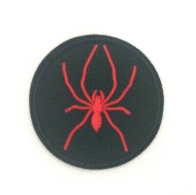 red Widow Spider DIY Iron On Embroidered Applique Patch