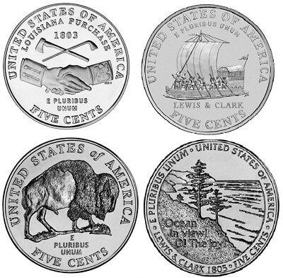 2004 - 2005 D Westward Journey Jefferson Nickels - BU (four (Westward Journey Nickels)