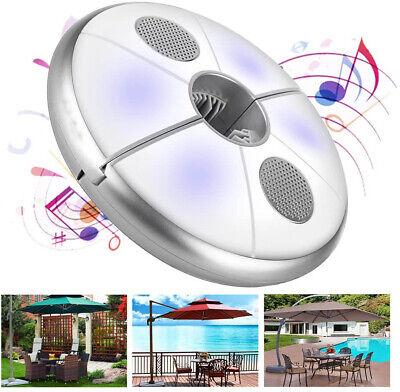 Lámpara Luz Sombrilla 48 LED con Altavoz Audio Bluetooth Sin Hilos +