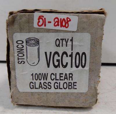 Stonco 100w Clear Glass Globe Vgc100 Nib