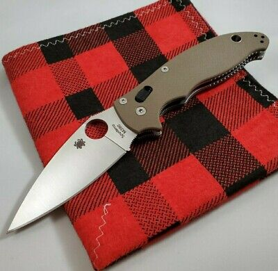 Spyderco Manix 2 C101GPBN2 M390 Earth Brown Exclusive -- Authorized Seller