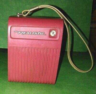 VINTAGE 1970s REALISTIC 12-166 B PINK STRAWBERRY FLAVORADIO AM TRANSISTOR RADIO