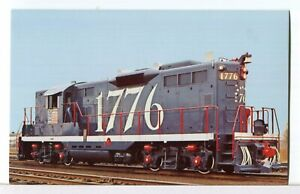 Central Vermont/Grand Trunk Bicentennial Locomotive #1776 Trains Postcard