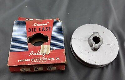 Chicago Die Cast Single V Groove Pulley A Belt 4 Od X 58 Bore 400a Aluminum