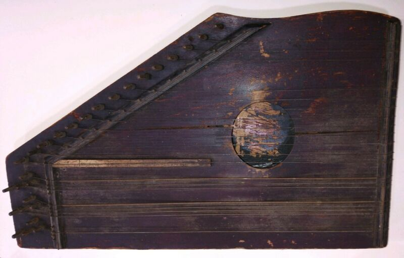 Musical Instrument Dulcimer? Rustic Wall Decor Home Made? Vintage! OCT19