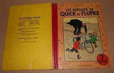 Vieille bd Années 50 Quick et Flupke 3e série Hergé (dans Tintin) Incomplet