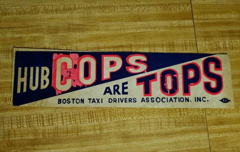 RARE BPD Boston Police bumper sticker