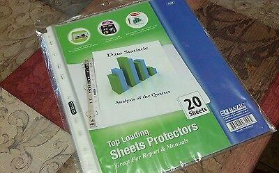 "40 × Sheet Protectors,  Top-Load, 11""x8-1/2"",  Clear #3102 SCHOOL,COLLEGE"