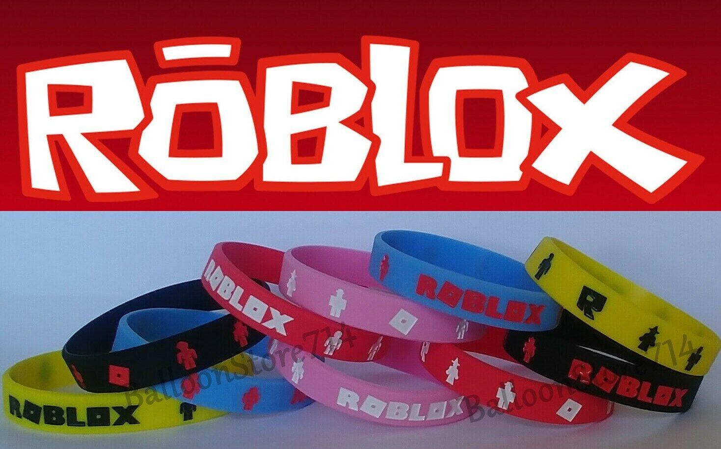 10 Piece ROBLOX Bracelet Set ~ ROBLOX Wristbands Birthday Pa