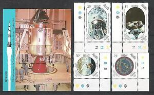 Raumfahrt-Space-Belize-1020-23-Block-97-Apollo-mnh