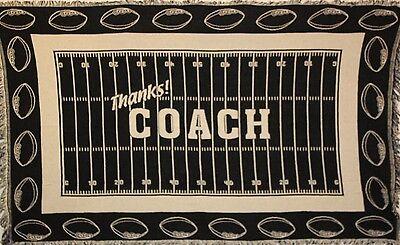 Thanks Coach Football - Football `THANKS! COACH` Throw Blanket - NEW