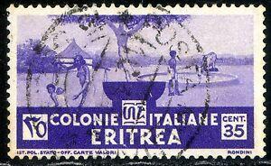 Colonie Italiane Eritrea 1933 Soggetti Africani n. 208 usato (m2817) - Italia - L'oggetto può essere restituito - Italia