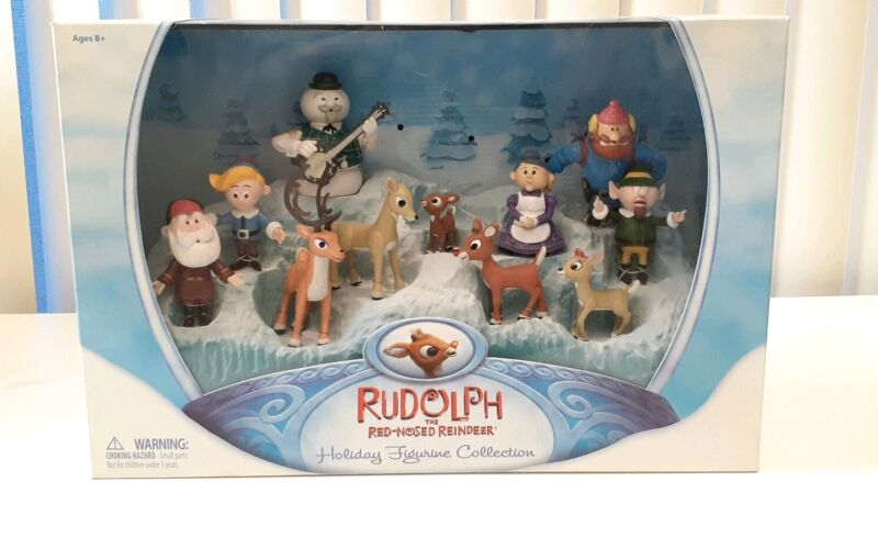 Rudolph the Red-Nosed Reindeer Holiday Figurine Collection 12 piece Set missing1