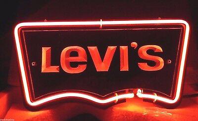 "SB176 Levi's jeans Purchase Store club decor Neon Light 3D Acrylic Sign 11""X6"" new"