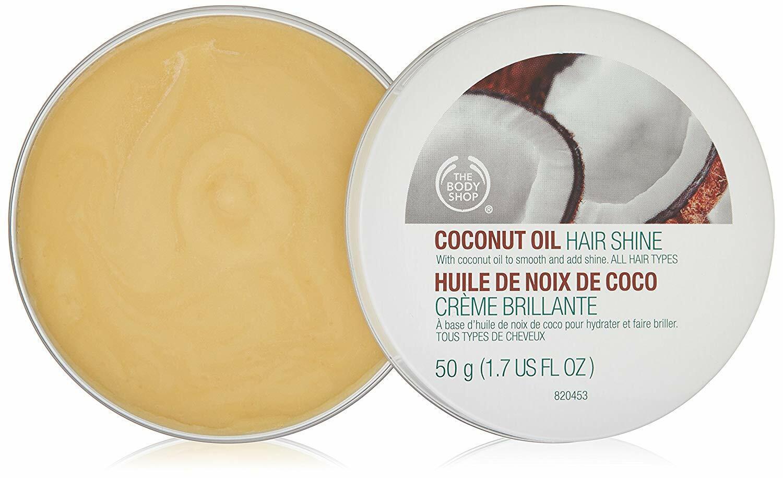 The Body Shop Coconut Oil Hair Shine, 50gm/1.7 Ounce, Free S