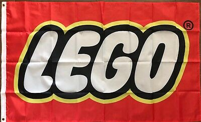 Lego Construction Toys 3x5 Flag banner Red Toy Store Playroom Kids Man Cave - Lego Banner