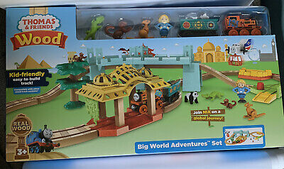 Thomas the Tank Engine wooden rail series Go! Go! Earth whole adventure set FXT6