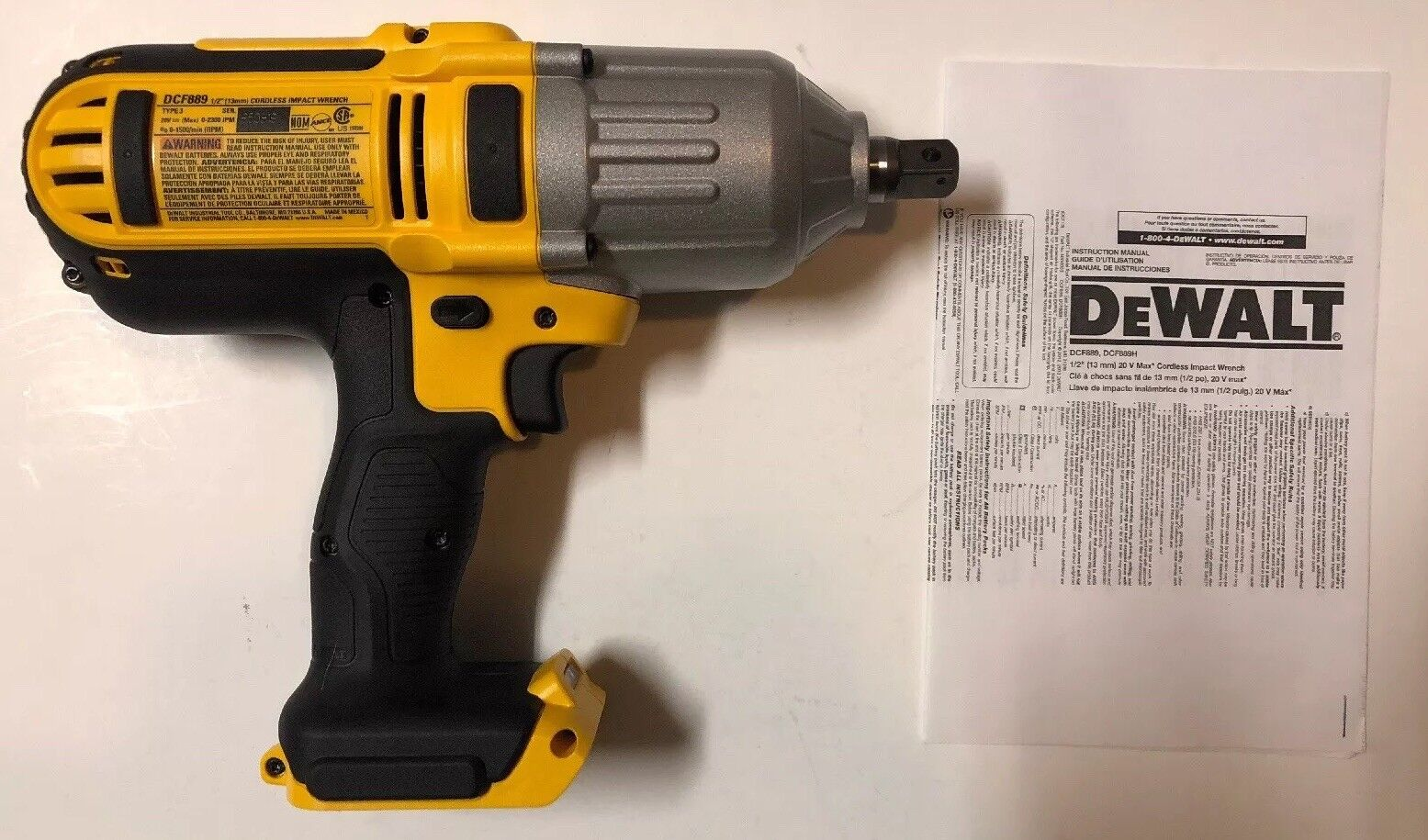Dewalt DCF889BR 20V MAX Cordless Lithium-Ion 1/2 in. High-To