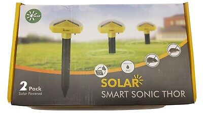 Redeo 2 Pack Solar Powered Snake Repellent Sonic Mole Repellent Deterrent Sonic